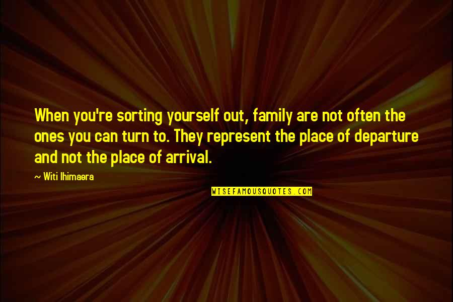 Siblings And Family Quotes By Witi Ihimaera: When you're sorting yourself out, family are not