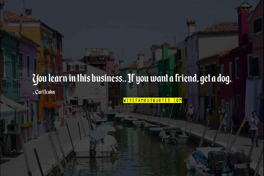 Sid Mashburn Quotes By Carl Icahn: You learn in this business.. If you want