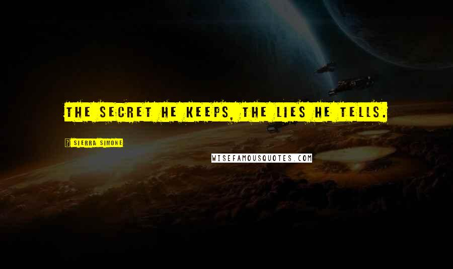 Sierra Simone quotes: The secret he keeps, the lies he tells.