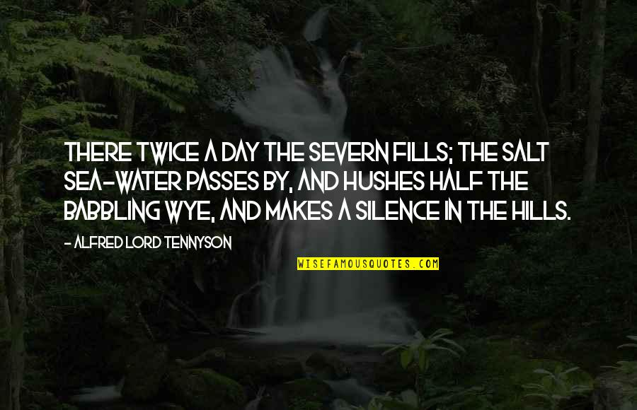 Silence Of The Sea Quotes By Alfred Lord Tennyson: There twice a day the Severn fills; The