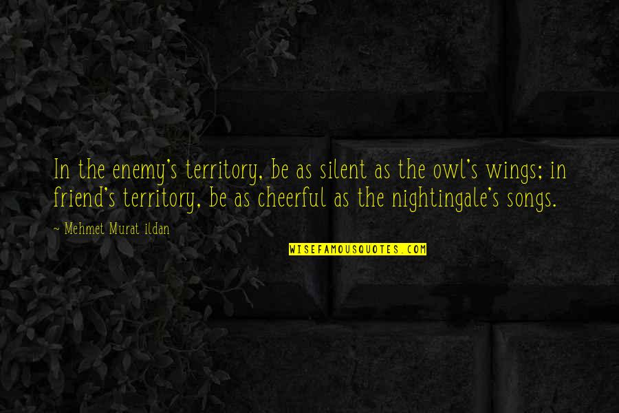 Silent Enemy Quotes By Mehmet Murat Ildan: In the enemy's territory, be as silent as
