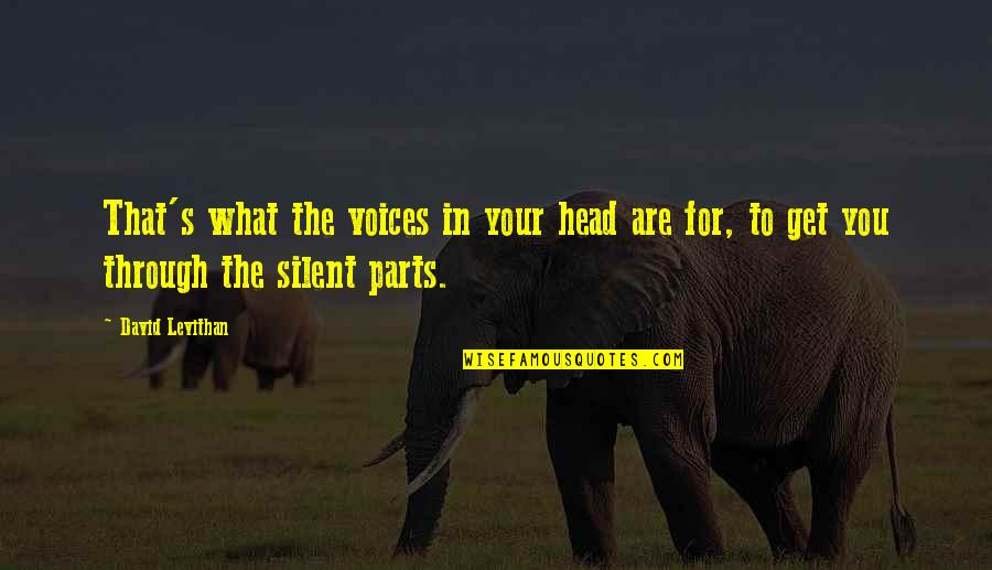 Silent Voices Quotes By David Levithan: That's what the voices in your head are