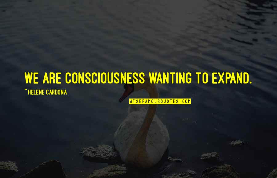 Silicon Valley Dinesh Quotes By Helene Cardona: We are consciousness wanting to expand.