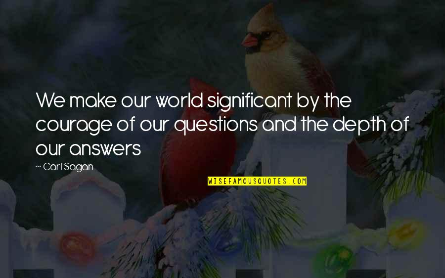 Silicon Valley Funny Quotes By Carl Sagan: We make our world significant by the courage