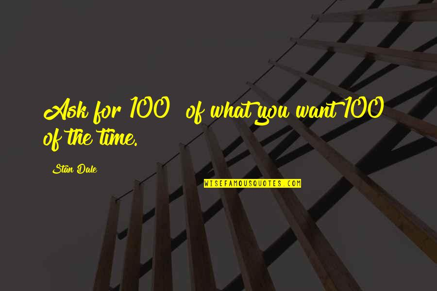 Silke Quotes By Stan Dale: Ask for 100% of what you want 100%