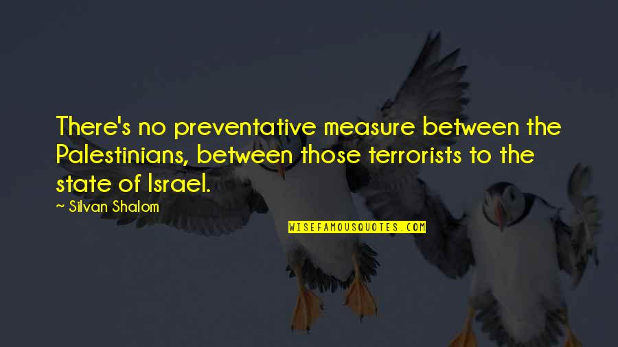 Silvan Quotes By Silvan Shalom: There's no preventative measure between the Palestinians, between