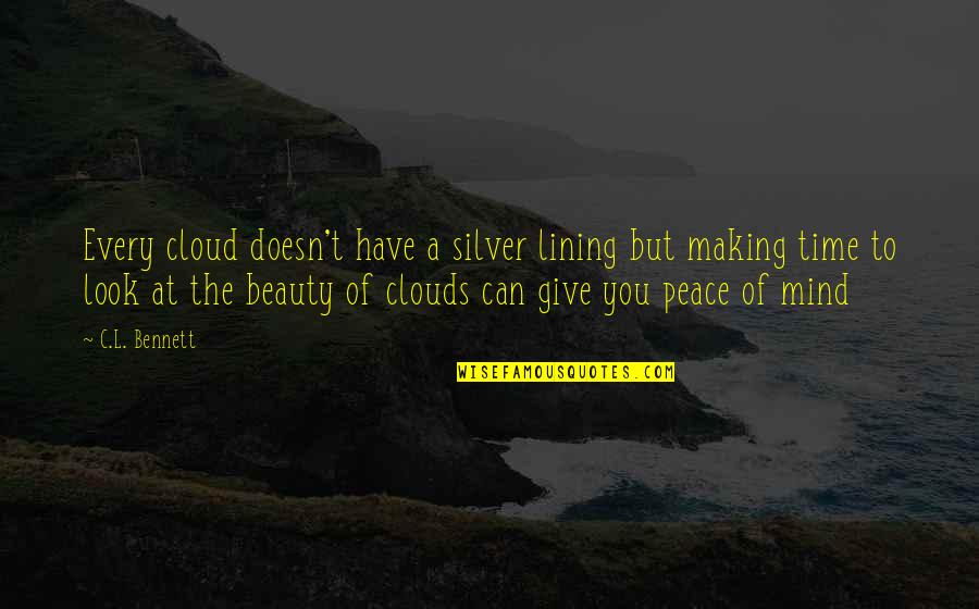 Silver Lining Quotes By C.L. Bennett: Every cloud doesn't have a silver lining but