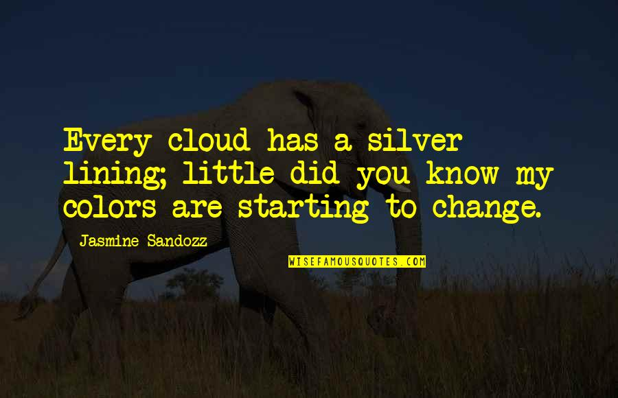 Silver Lining Quotes By Jasmine Sandozz: Every cloud has a silver lining; little did