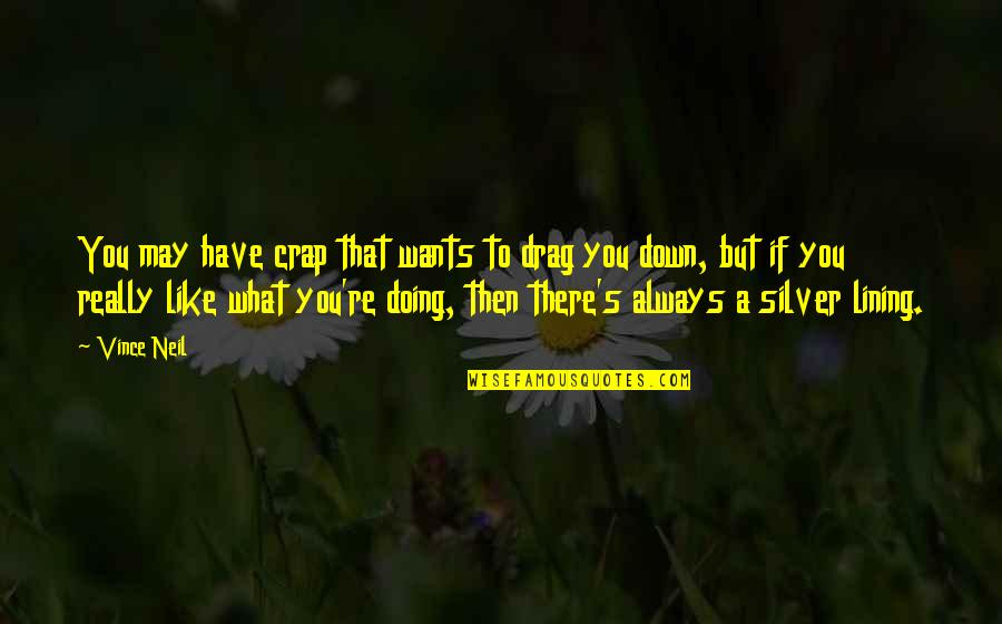 Silver Lining Quotes By Vince Neil: You may have crap that wants to drag