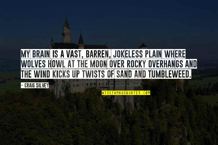 Silvey Quotes By Craig Silvey: My brain is a vast, barren, jokeless plain