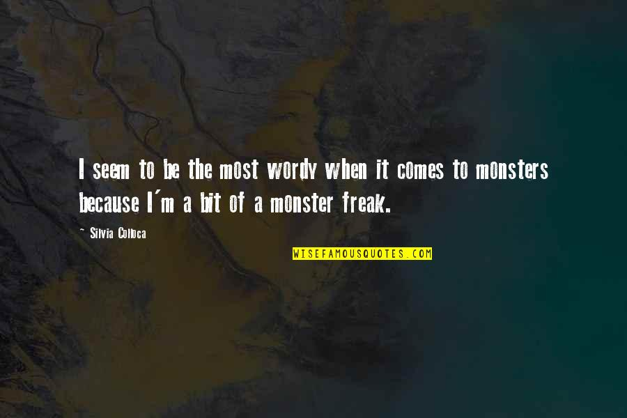 Silvia's Quotes By Silvia Colloca: I seem to be the most wordy when