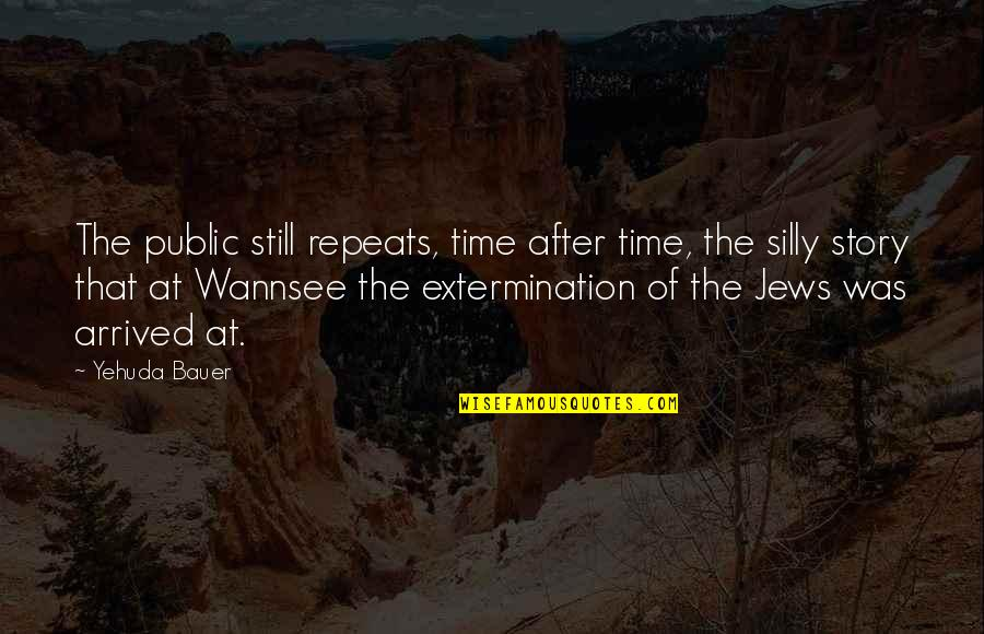 Similarity Difference Quotes By Yehuda Bauer: The public still repeats, time after time, the