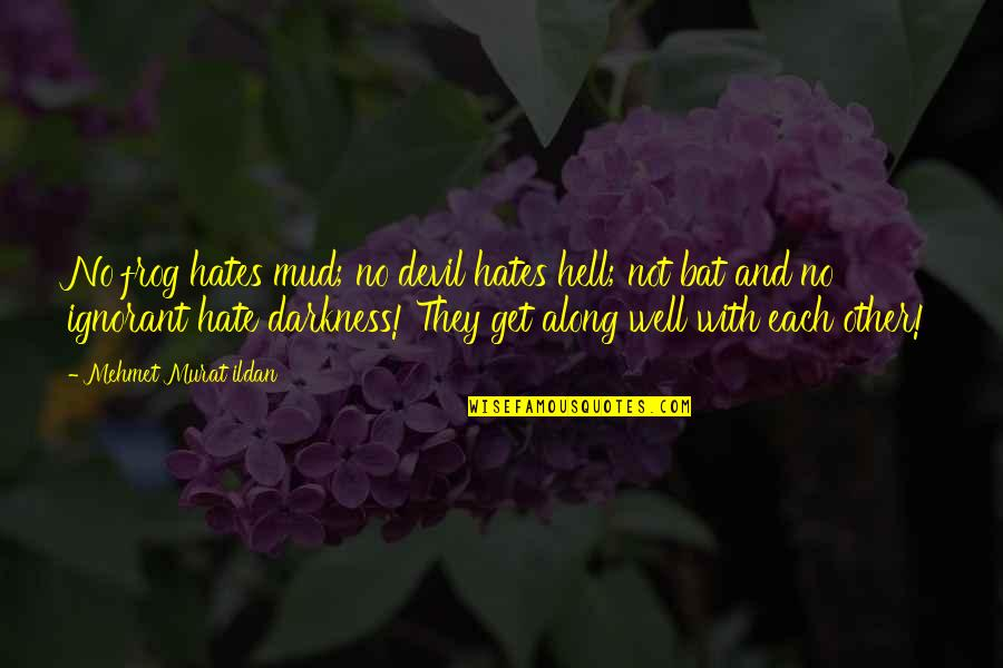 Simon And Clary Quotes By Mehmet Murat Ildan: No frog hates mud; no devil hates hell;