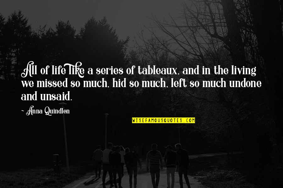 Sims Language Quotes By Anna Quindlen: All of life like a series of tableaux,