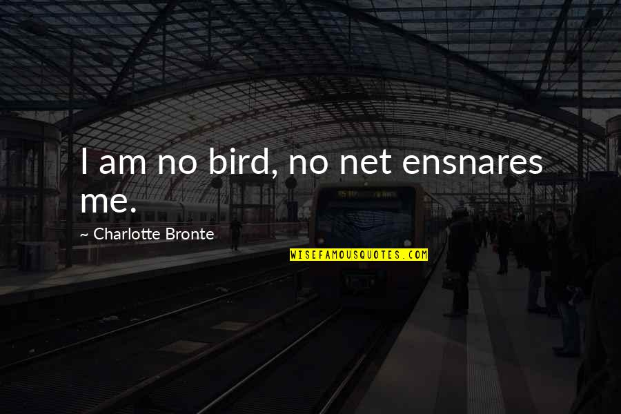 Sinbad Coneheads Quotes By Charlotte Bronte: I am no bird, no net ensnares me.
