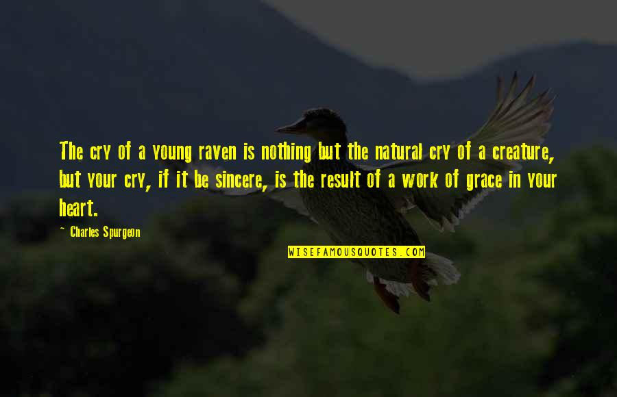 Sincere From The Heart Quotes By Charles Spurgeon: The cry of a young raven is nothing