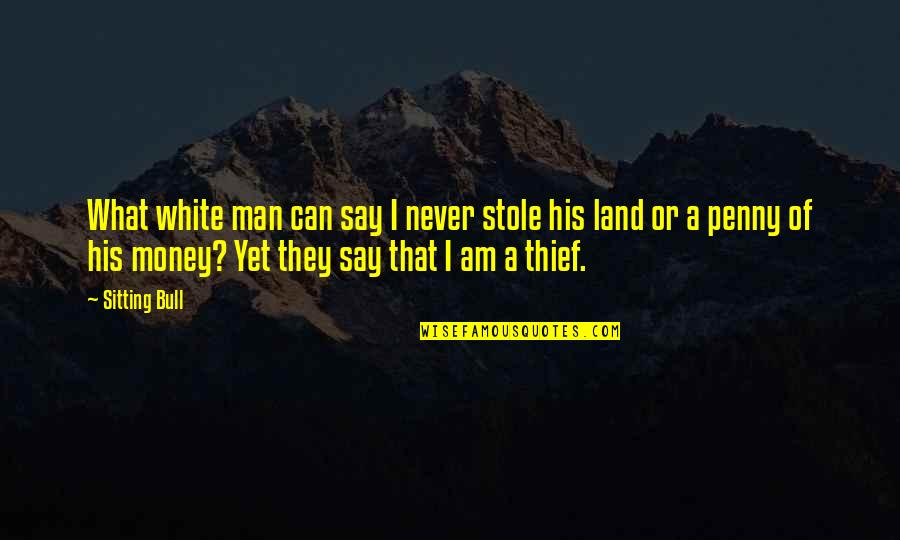 Singing Love Song Quotes By Sitting Bull: What white man can say I never stole