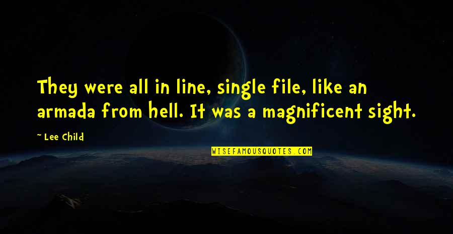 Single Line Quotes By Lee Child: They were all in line, single file, like