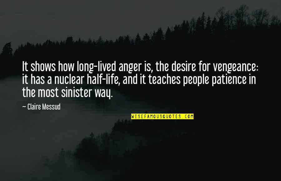Sinister Quotes By Claire Messud: It shows how long-lived anger is, the desire