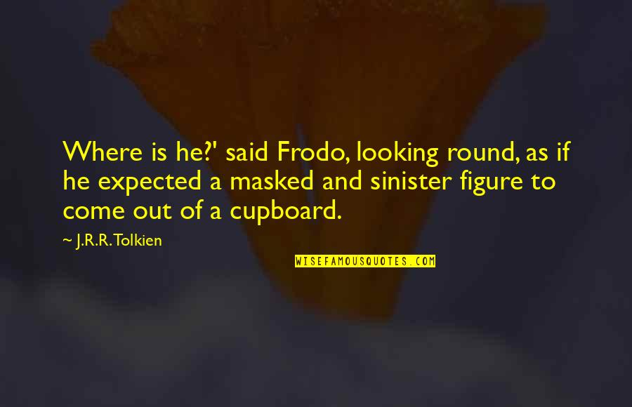 Sinister Quotes By J.R.R. Tolkien: Where is he?' said Frodo, looking round, as