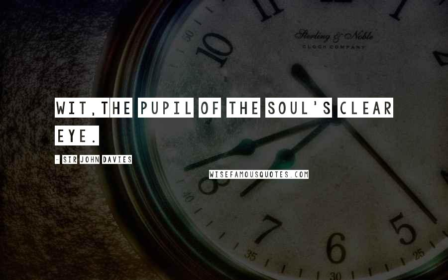 Sir John Davies quotes: Wit,the pupil of the soul's clear eye.