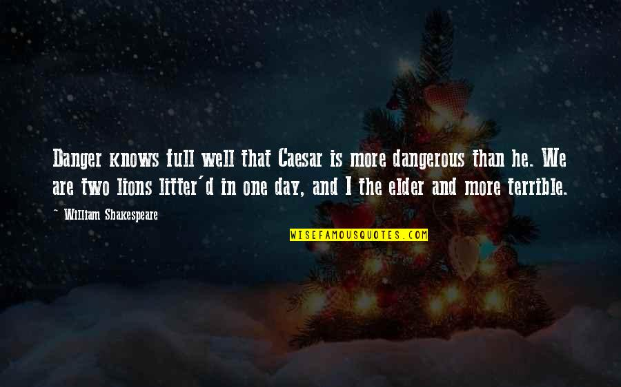 Sirius Amory Quotes By William Shakespeare: Danger knows full well that Caesar is more