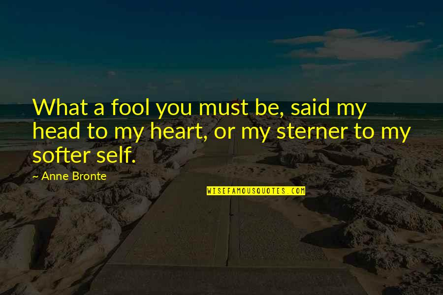 Sisters Love Quotes By Anne Bronte: What a fool you must be, said my