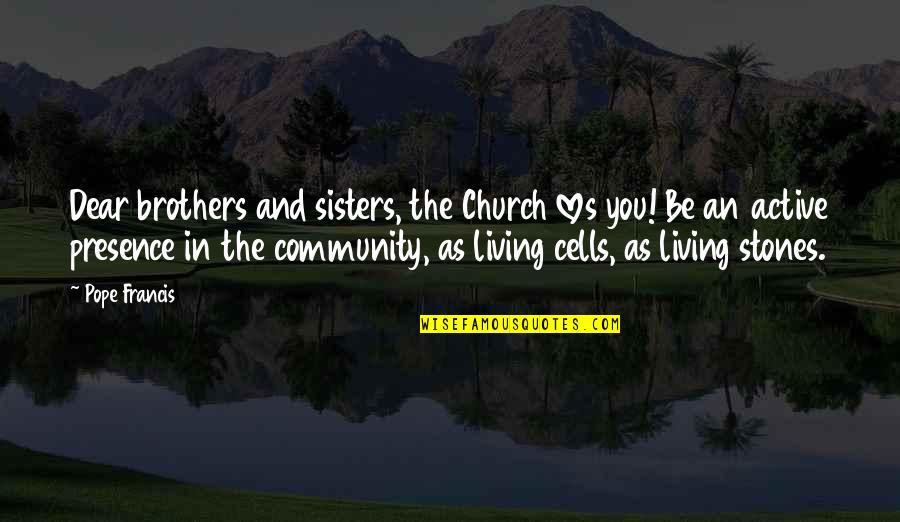 Sisters Love Quotes By Pope Francis: Dear brothers and sisters, the Church loves you!