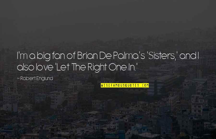 Sisters Love Quotes By Robert Englund: I'm a big fan of Brian De Palma's