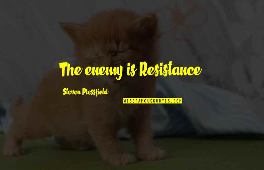 Sisters That Rhyme Quotes By Steven Pressfield: The enemy is Resistance.