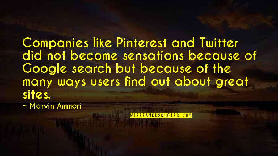 Sites To Find Quotes By Marvin Ammori: Companies like Pinterest and Twitter did not become