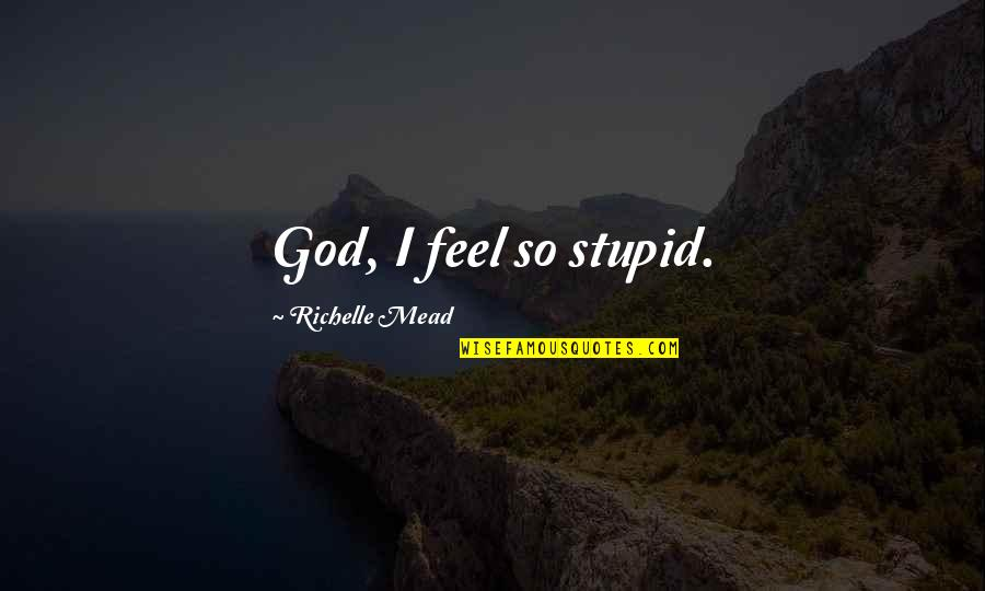 Sites To Find Quotes By Richelle Mead: God, I feel so stupid.