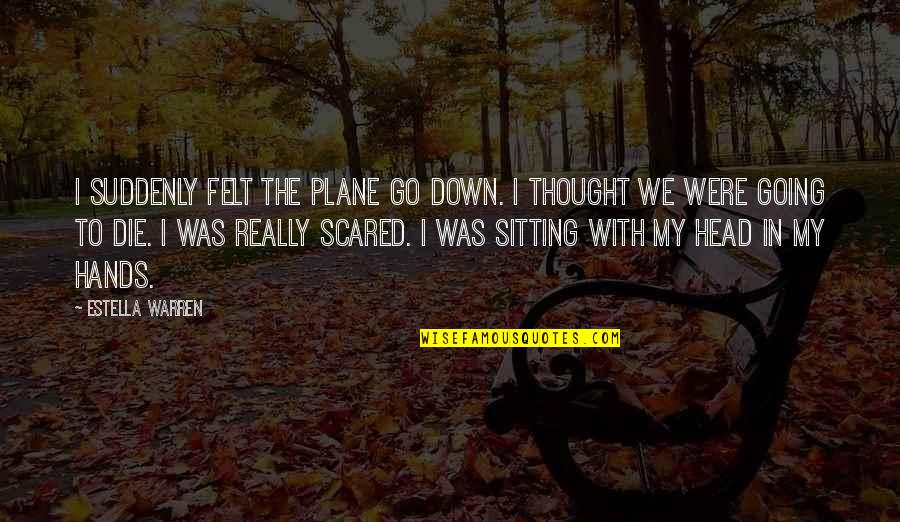 Sitting Down Quotes By Estella Warren: I suddenly felt the plane go down. I