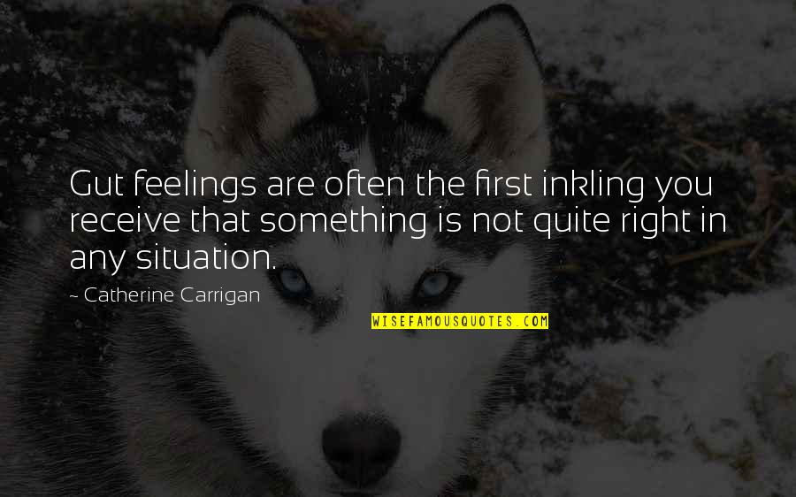 Situation Quotes And Quotes By Catherine Carrigan: Gut feelings are often the first inkling you