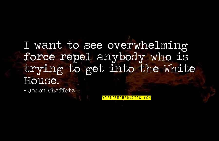 Skilful Quotes By Jason Chaffetz: I want to see overwhelming force repel anybody