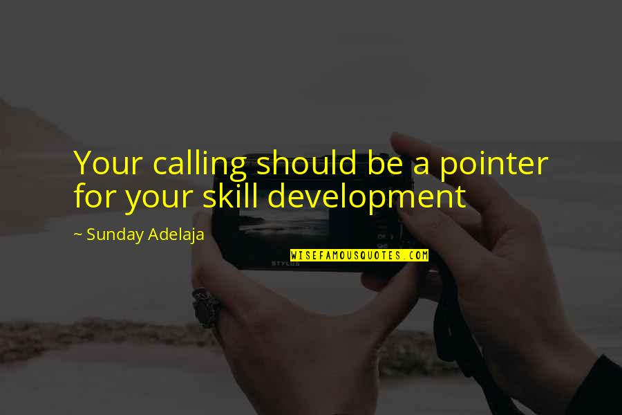 Skill Development Quotes By Sunday Adelaja: Your calling should be a pointer for your