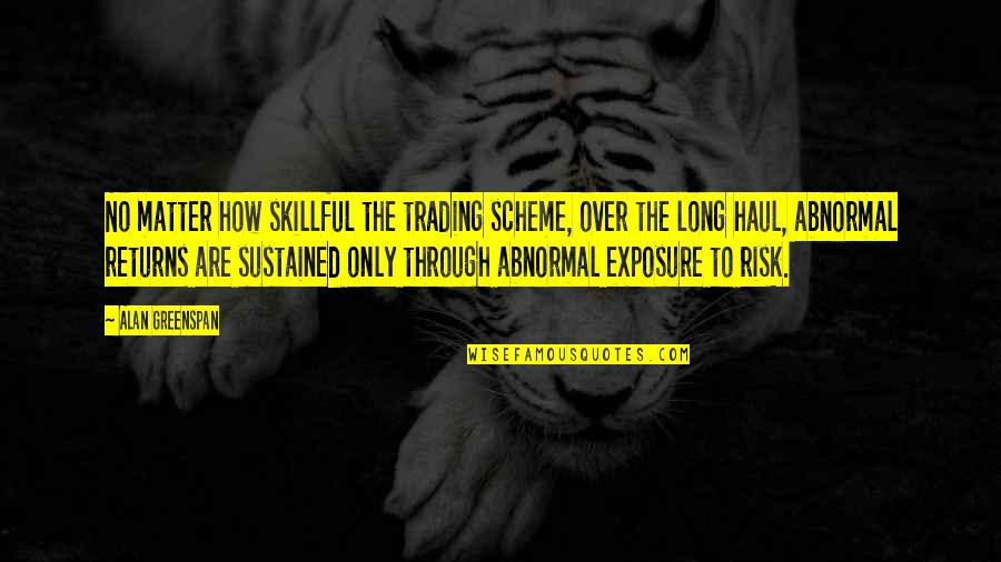 Skillful Quotes By Alan Greenspan: No matter how skillful the trading scheme, over
