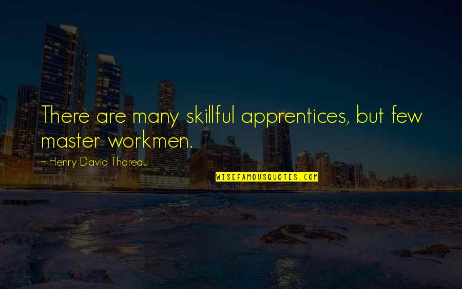 Skillful Quotes By Henry David Thoreau: There are many skillful apprentices, but few master