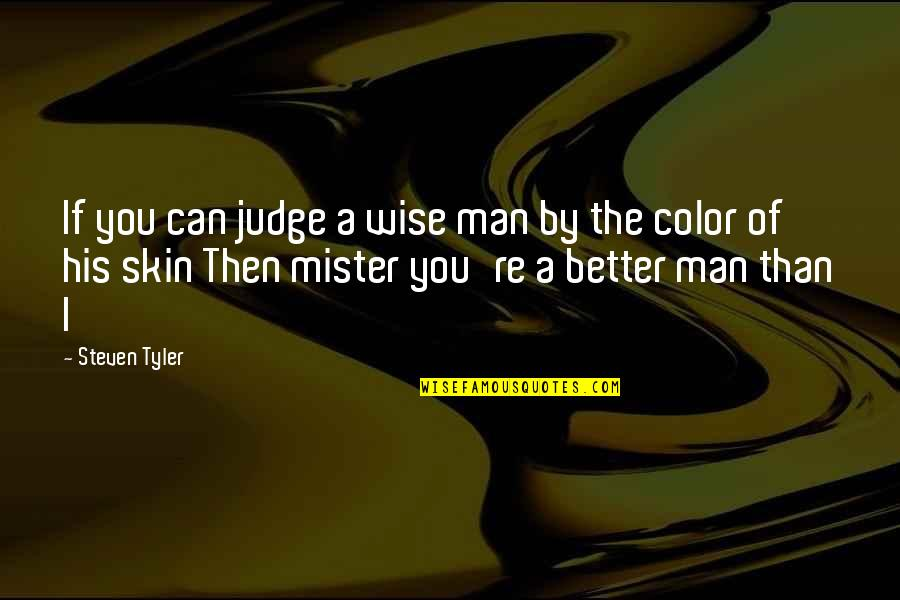 Skin Color Quotes By Steven Tyler: If you can judge a wise man by