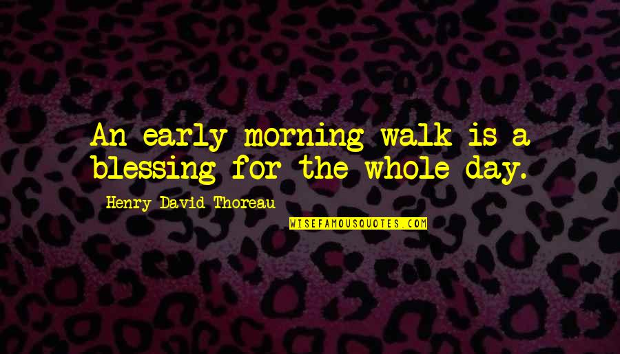 Skully Hats With Quotes By Henry David Thoreau: An early-morning walk is a blessing for the