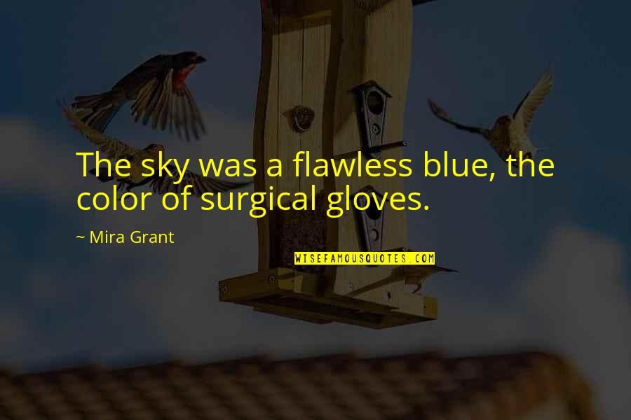 Sky Blue Color Quotes By Mira Grant: The sky was a flawless blue, the color