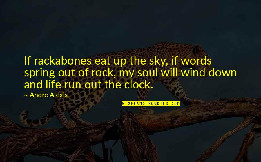 Sky Life Quotes By Andre Alexis: If rackabones eat up the sky, if words