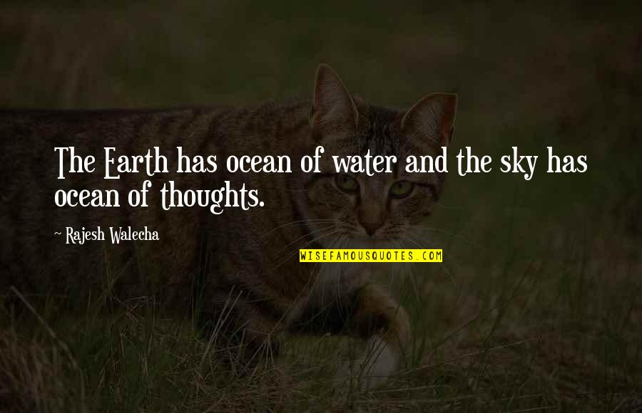 Sky Life Quotes By Rajesh Walecha: The Earth has ocean of water and the