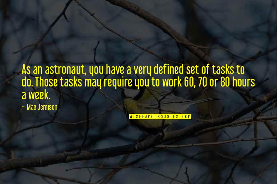 Skycrapers Quotes By Mae Jemison: As an astronaut, you have a very defined