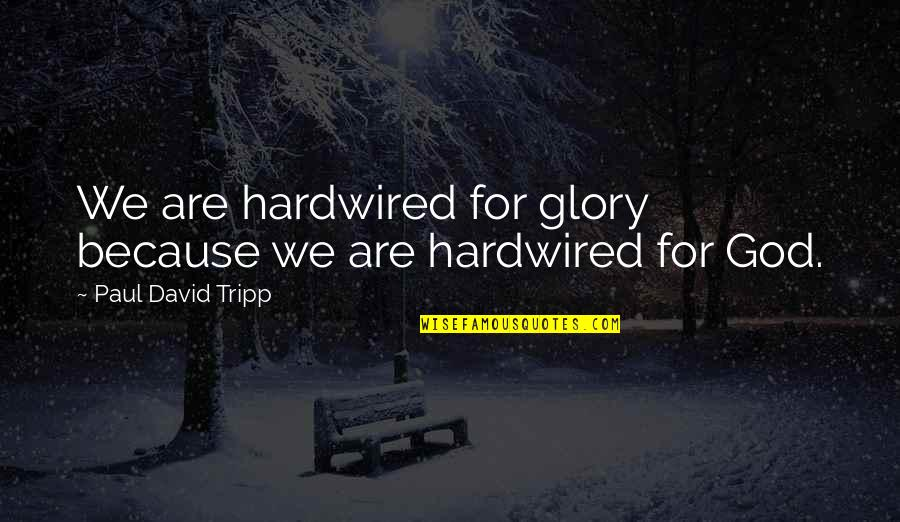 Sl Heart Quotes By Paul David Tripp: We are hardwired for glory because we are