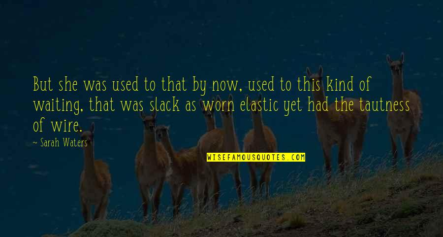Slack Off Quotes By Sarah Waters: But she was used to that by now,