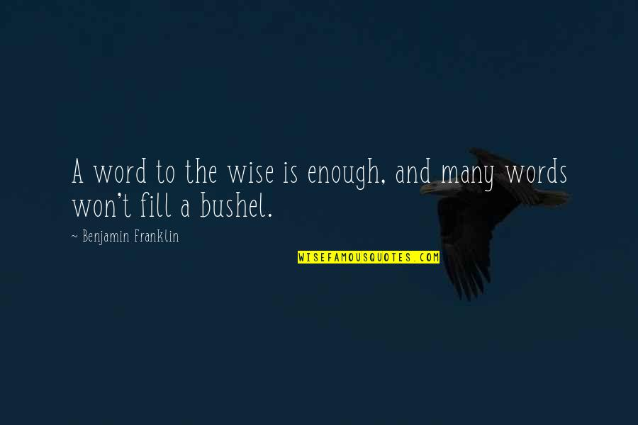 Sleep Tight Love Quotes By Benjamin Franklin: A word to the wise is enough, and