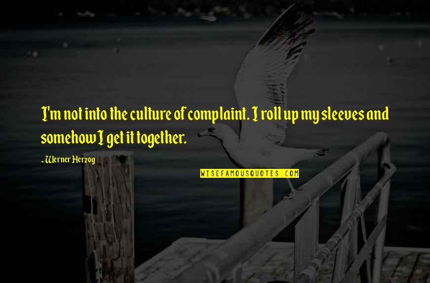Sleeves Quotes By Werner Herzog: I'm not into the culture of complaint. I