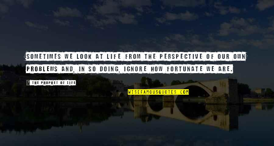 Slices Quotes By The Prophet Of Life: Sometimes we look at life from the perspective