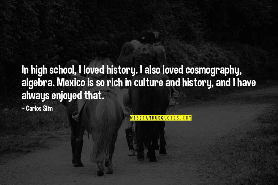 Slim Carlos Quotes By Carlos Slim: In high school, I loved history. I also
